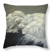 Lap Dog Throw Pillow by Elizabeth  Ellis