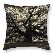 Last Angel Oak 72 Throw Pillow by Susanne Van Hulst