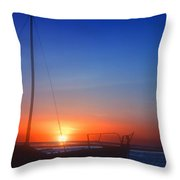 Last Light Throw Pillow by Stephen Anderson