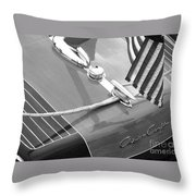 Late 1940's Chris Craft Custom Throw Pillow by Neil Zimmerman