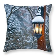 Late Afternoon Snow Throw Pillow by Sandra Bronstein