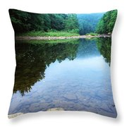 Late Summer At The Baptizing Hole Throw Pillow by Thomas R Fletcher