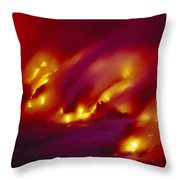 Lava Up Close Throw Pillow by Ron Dahlquist - Printscapes
