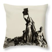 Law Prosperity and Power in Black and White Throw Pillow by Bill Cannon