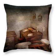 Lawyer - The Law Office Throw Pillow by Mike Savad