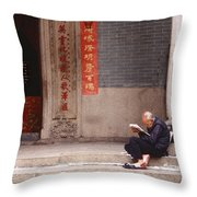Lazy Day In Hong Kong Throw Pillow by Sandra Bronstein