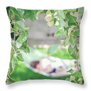 Lazy Days Of Summer Throw Pillow by Lisa Knechtel
