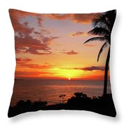 Lazy Sunset Throw Pillow by Kamil Swiatek