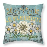 Le Fleuriste de Bontanique Throw Pillow by Debbie DeWitt