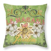 Le Magasin De Jardin Throw Pillow by Debbie DeWitt