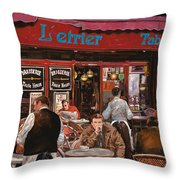 Le mani in bocca Throw Pillow by Guido Borelli
