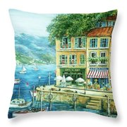 Le Port Throw Pillow by Marilyn Dunlap
