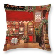 Le Rendez Vous Throw Pillow by Guido Borelli