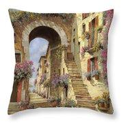 le scale e un arco Throw Pillow by Guido Borelli