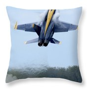 Lead Solo Pilot Of The Blue Angels Throw Pillow by Stocktrek Images