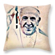 Leader For Peace, Community, Love Throw Pillow by WBK