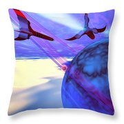 Leading Edge Throw Pillow by Corey Ford