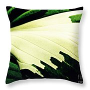 Leaf Abstract 7 Throw Pillow by Sarah Loft