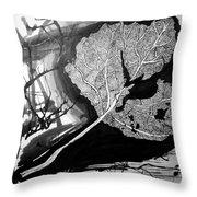 Leaf Throw Pillow by Jera Sky