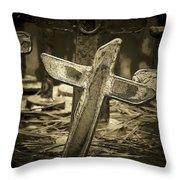 Leaning  Throw Pillow by Deborah  Montana