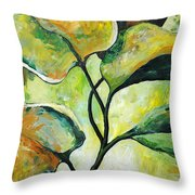 Leaves2 Throw Pillow by Chris Steinken