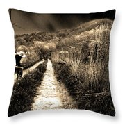 Leaving This Town Throw Pillow by Gray  Artus