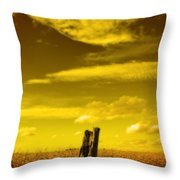Left Alone Throw Pillow by Cathy  Beharriell
