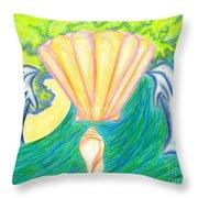 Lemuria Atlantis Throw Pillow by Kim Sy Ok