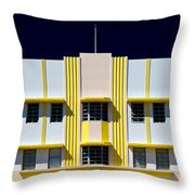 Leslie Hotel Throw Pillow by Dave Bowman