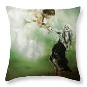 Let Me Go Throw Pillow by Mary Hood
