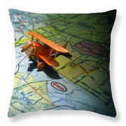 Let's Take A Trip Throw Pillow by Adam Vance