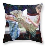 Letter From Him Throw Pillow by Sergey Ignatenko