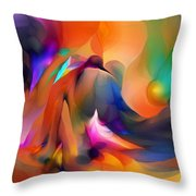 Letting Go Throw Pillow by David Lane