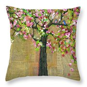 Lexicon Tree Of Life 4 Throw Pillow by Blenda Studio