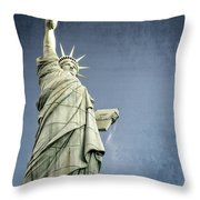 Liberty Enlightening The World Throw Pillow by Charles Dobbs