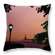 Liberty Fading Seascape Throw Pillow by Steve Karol
