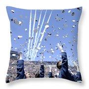 Lieutenants Commemorate Throw Pillow by Stocktrek Images