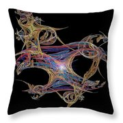 Life Is A Masquerade Throw Pillow by Michael Durst