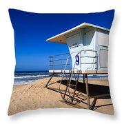 Lifeguard Tower Photo Throw Pillow by Paul Velgos