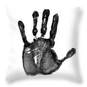 Lifeline - Free Hand Throw Pillow by Michal Boubin