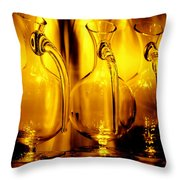 Light And Color Play II Throw Pillow by Jenny Rainbow