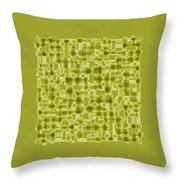 Light Green Abstract Throw Pillow by Frank Tschakert