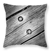 Lightning Bolt Throw Pillow by Luke Moore