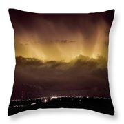 Lightning Cloud Burst Boulder County Colorado IM29 Throw Pillow by James BO  Insogna