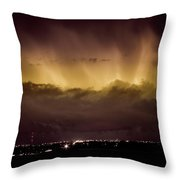 Lightning Cloud Burst Boulder County Colorado Im29 Throw Pillow by James BO  Insogna