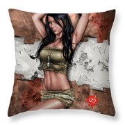 Lights Out 3 Throw Pillow by Pete Tapang