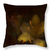 Lilies II Throw Pillow by Bonnie Bruno