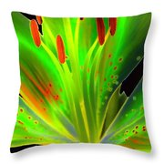 Lime Twist Throw Pillow by Diane E Berry