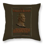 Lincoln Gettysburg Address Quote Throw Pillow by War Is Hell Store