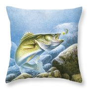 Lindy Walleye Throw Pillow by JQ Licensing